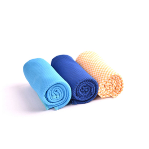 Best Selling Polyester Cooling Towel With Bottle