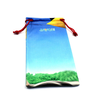 Heat Transfer Printing Microfiber Reading Glasses Bag