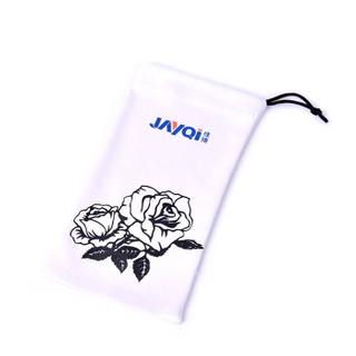 Custom Logo Single Drawstring Sunglass Pouch Manufacturer